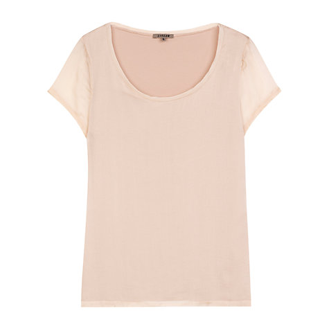 Buy Jigsaw Silk Chiffon Overlay Tee Online at johnlewis.com