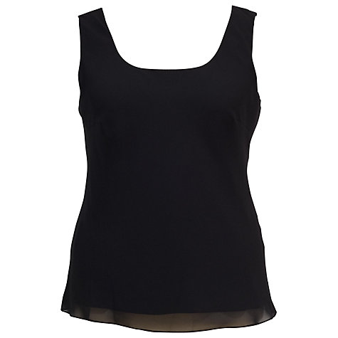 Buy Chesca Chiffon Camisole Top, Black Online at johnlewis.com
