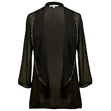 Buy Chesca Satin Trim Waterfall Jacket, Black Online at johnlewis.com