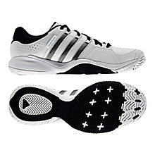 Buy Adidas Ambition VII Stripes Tennis Shoes, Running White/Collegiate Navy Online at johnlewis.com