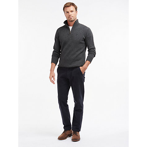 Buy Barbour Essential Lambswool Half Zip Jumper Online at johnlewis.com
