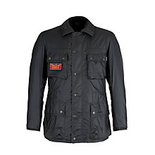 Buy Barbour International Oak Goose Wax Jacket, Navy Online at johnlewis.com