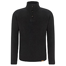 Buy Barbour Chelsea Lambswool Button Neck Jumper, Dark Grey Online at johnlewis.com