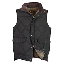 Buy Barbour Wax Feather Gilet, Black Online at johnlewis.com