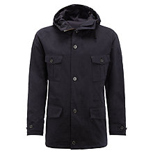 Buy Barbour Cornish Waxed Hooded Jacket, Navy Online at johnlewis.com