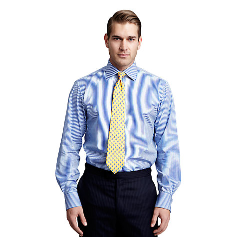 Buy Thomas Pink Meridian Stripe Shirt, Blue/Blue Online at johnlewis.com