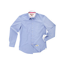 Buy Thomas Pink Longitude Check Shirt, Blue/White Online at johnlewis.com