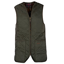 Buy Barbour Quilted Waistcoat, Olive Online at johnlewis.com