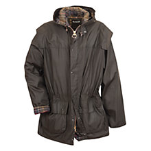 Buy Barbour Classic Durham Waxed Jacket, Olive Online at johnlewis.com