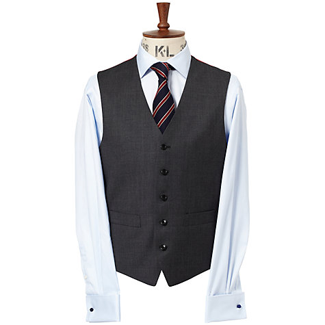 Buy Chester by Chester Barrie Birdseye Suit Waistcoat, Charcoal Online at johnlewis.com