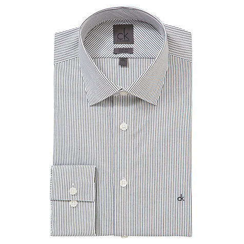 Buy CK Calvin Klein Fine Stripe Shirt, Black Online at johnlewis.com