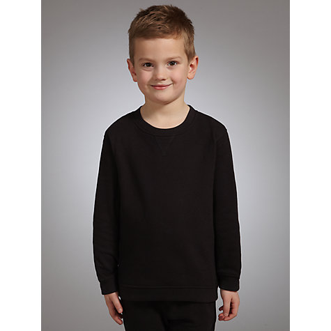 Buy John Lewis School Sweatshirt, Black Online at johnlewis.com