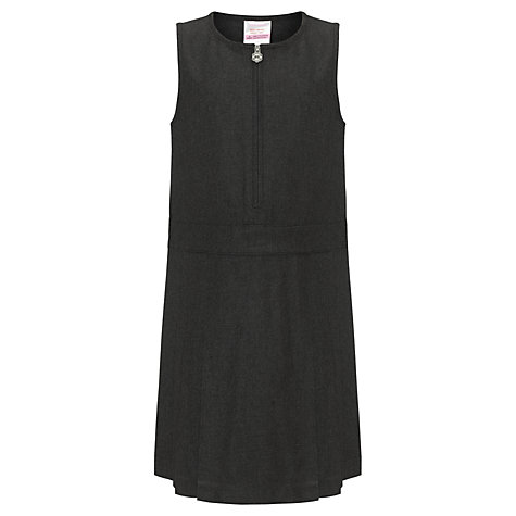 Buy John Lewis Zip Front School Tunic, Grey Online at johnlewis.com