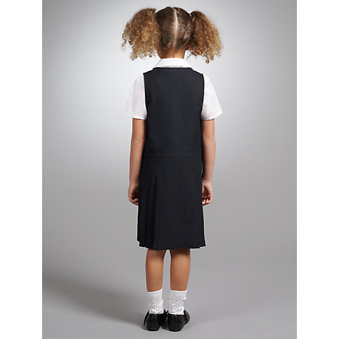 Buy John Lewis Zip Front School Tunic, Navy Online at johnlewis.com