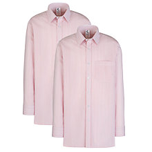 Buy Alleyn's Junior School Boys' Long Sleeved Shirts, Pack of 2, Red/White Online at johnlewis.com