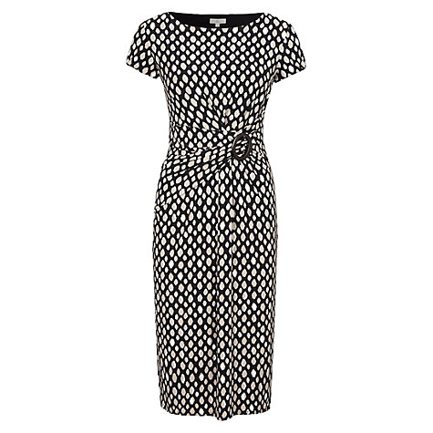 Buy CC Animal Spot Jersey Dress, Black/Ivory Online at johnlewis.com