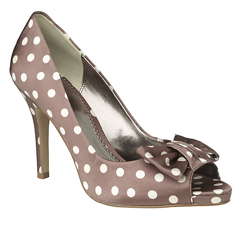 Buy Phase Eight Bibi Peep Toe Bow Detail Stiletto Court Shoes Online at johnlewis.com