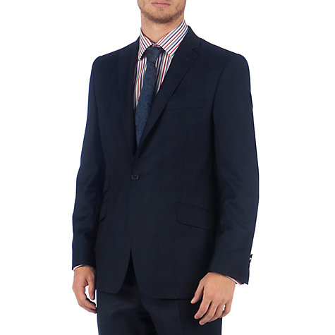 Buy Ted Baker Endurance Hoxtee Pindot Sterling Suit Jacket, Navy Online at johnlewis.com