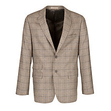 Buy Paul Costelloe Check Blazer, Brown Online at johnlewis.com
