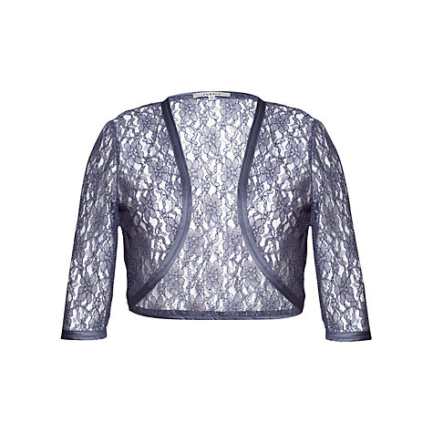Buy Chesca Lace Bolero, Charcoal Online at johnlewis.com
