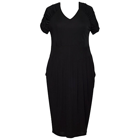 Buy Chesca Jersey Dress, Black Online at johnlewis.com