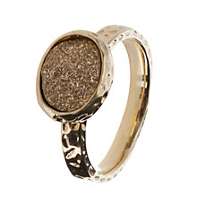 Buy Etrusca Silver Drusy 18ct Hammered Gold Plated Ring Online at johnlewis.com