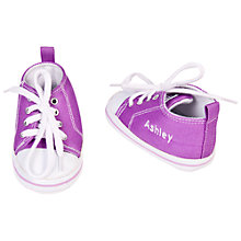 Buy My 1st Years Personalised Trainers, Purple, 12-18 months Online at johnlewis.com