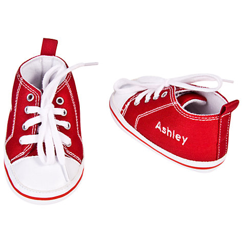 Buy My 1st Years Personalised Trainers, Red, 12-18 months Online at johnlewis.com