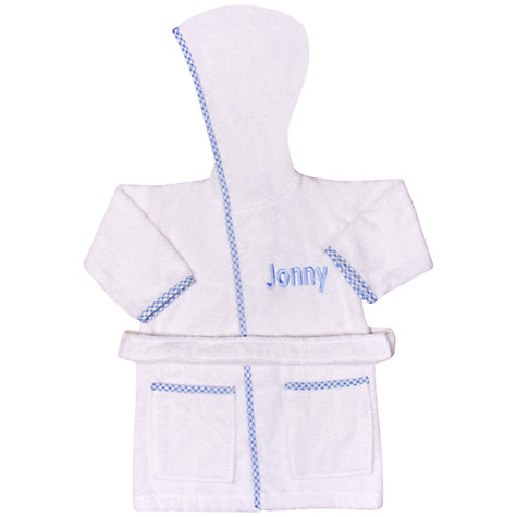 Buy My 1st Years Personalised Hooded Robe, Blue Online at johnlewis.com