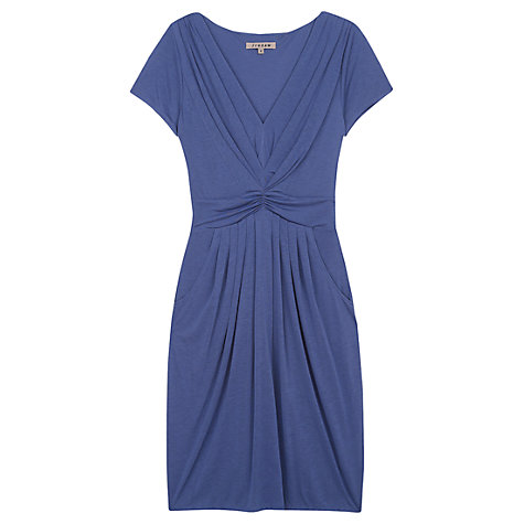 Buy Jigsaw Lyocell Gathered V-Neck Jersey Dress Online at johnlewis.com