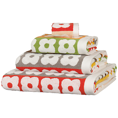Orla Kiely Flower Stripe Towels, Multi