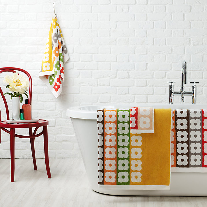 Buy Orla Kiely Flower Stripe Bath Sheet, Multi Online at johnlewis.com