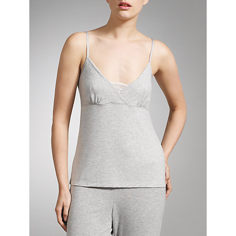 Buy John Lewis Olivia Camisole, Grey/White Online at johnlewis.com
