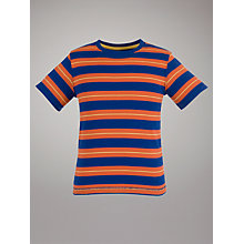 Buy John Lewis Boy Autumn Stripe T-shirt, Blue/Orange Online at johnlewis.com