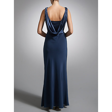 Buy John Lewis Cowl Back & Front Maxi Dress, Navy Online at johnlewis.com