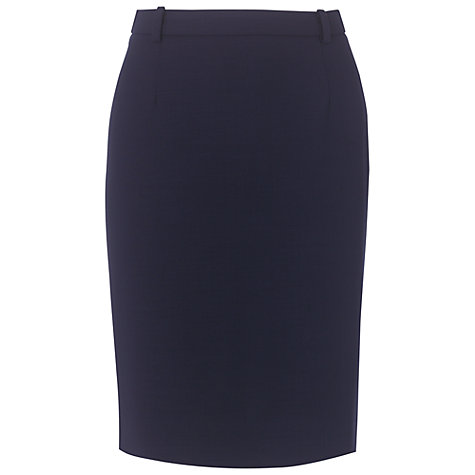 Buy Aquascutum Borkett Skirt, Navy Online at johnlewis.com