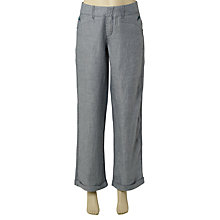 Buy White Stuff Dixieland Linen Trousers, Lagoon Online at johnlewis.com