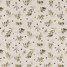 Buy John Lewis Olives Teflon Coated Tablecloth Fabric, Natural Online at johnlewis.com