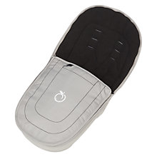 Buy iCandy Peach Upper Footmuff, Silver Online at johnlewis.com