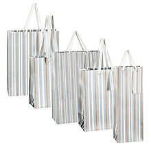 Buy John Lewis Metallic Stripe Gift Bags Online at johnlewis.com