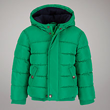 Buy John Lewis Puffa Coat, Green Online at johnlewis.com