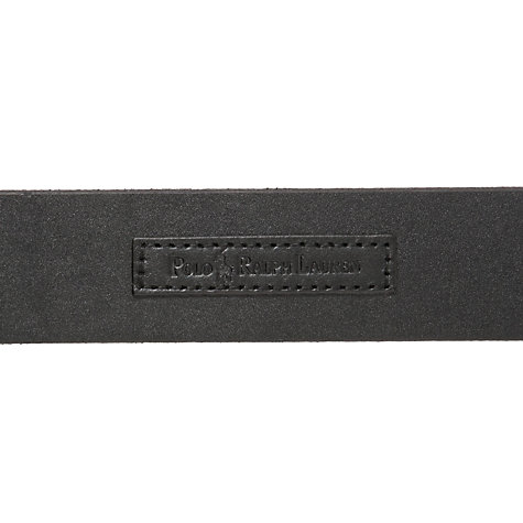 Buy Polo Ralph Lauren Leather Belt, Black Online at johnlewis.com