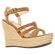 Buy UGG Callia Suede Ankle Strap Wedge Sandals Online at johnlewis.com