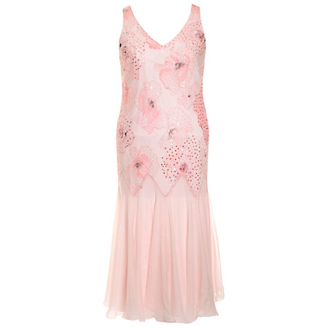 Buy Chesca Petal Bead Dress, Pink Online at johnlewis.com