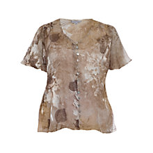 Buy Chesca Asymmetric Ruched Blouse, Gold Online at johnlewis.com