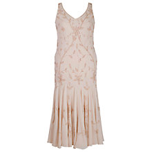 Buy Chesca Beaded Dress, Champagne Online at johnlewis.com