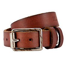 Buy Polo Ralph Lauren Leather Bracelet, Brown Online at johnlewis.com
