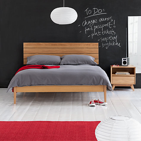 Buy House by John Lewis Stride Bedstead, Oak, Double Online at johnlewis.com