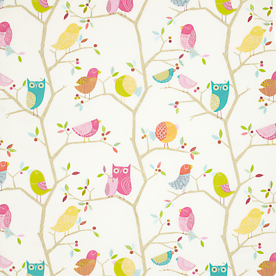 Harlequin What A Hoot Furnishing Fabric, Pink
