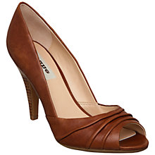 Buy Dune Calm Leather Ruched Peep Toe Court Shoes Online at johnlewis.com